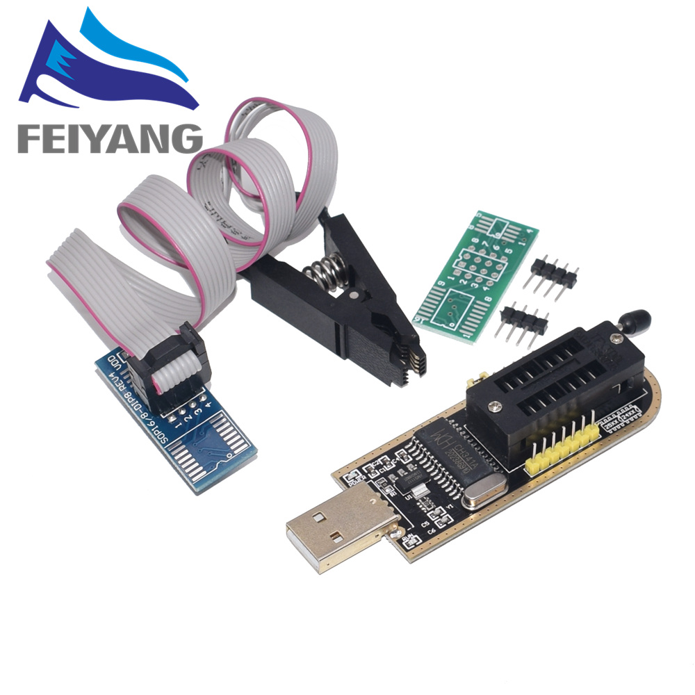 1PCS CH341A 24 25 Series EEPROM Flash BIOS USB Programmer Module + SOIC8 SOP8 Test Clip For EEPROM 93CXX / 25CXX / 24CXX