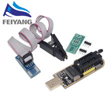 1PCS CH341A 24 25 סדרת EEPROM פלאש ה-BIOS USB מתכנת מודול + SOIC8 SOP8 מבחן קליפ עבור EEPROM 93CXX /25CXX/24CXX(China)