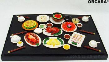 mini  pvc  figure  Chinese cuisine  simulation miniature model scene