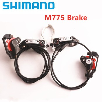 SHIMANO DEORE XT BR-M775 Original Hydraulic Disc Brake For XT M8000 Brake MTB Bike Oil Post Mount Length 750/1350mm shimano deore m590 лев пр 3x9ск тр оплетк
