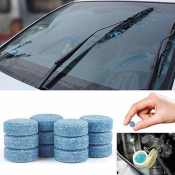 10 sztuk skondensowana tabletka musująca wycieraczka przednia szyba samochodu maszyna do mycia szkła wycieraczka lita skoncentrowany Super konwencjonalny Cleaner Tablet tanie i dobre opinie JOSHNESE CN (pochodzenie)