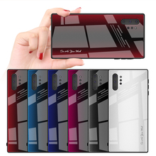 купить UYFRATE Carbon Fiber Gradient Stripe Tempered Glass Case For Samsung Galaxy Note 10 Plus Note10 A80 A90 A70 A50 A30 S10 Plus S9 по цене 194.74 рублей