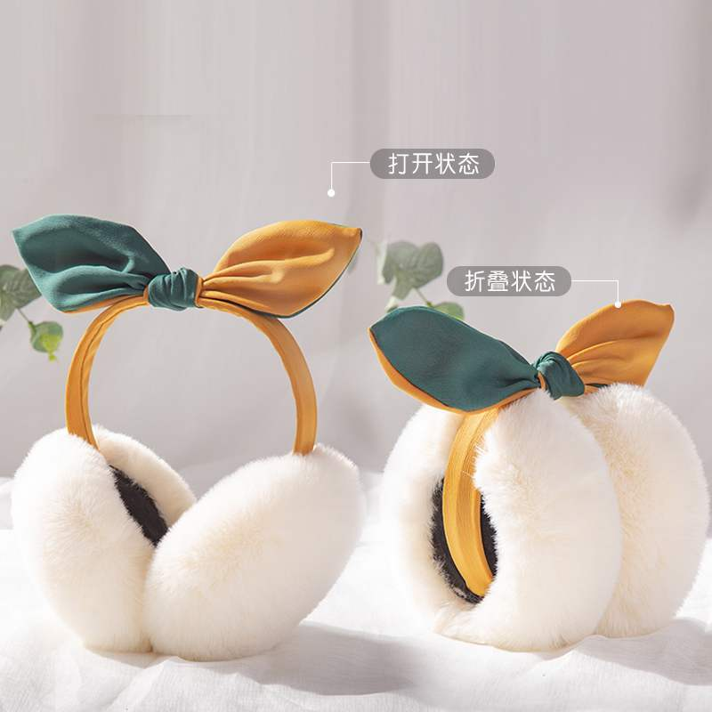 Foldable Earmuffs Women Girl Plush Warmer Cute Hair Band Earmuffs Fur Winter Kawaii Novelty Ear Muffs High Quality Accessories