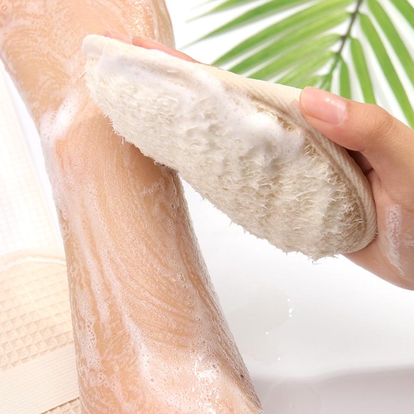 1PC Loofah Bath Shower Sponge Body Scrubber Sponge Scrub Handle Shower Massage Brush Skin Body Washing Accessories