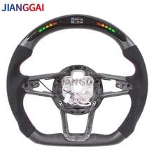 LED Shift Light Carbon Fiber Steering Wheel Fit For Audi R8 TTS 2018-2020