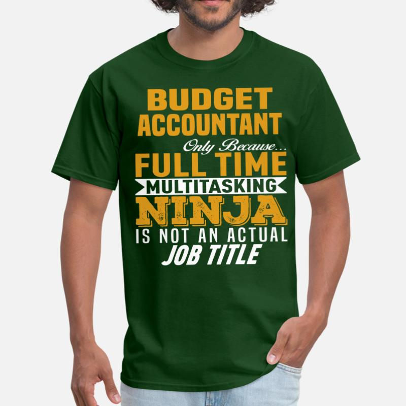 Printing Budget Accountant T-Shirt Man Cotton Round Collar Summer T-Shirt For Mens Short-Sleeve Gents Hiphop Top image