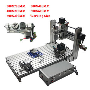 DIY cnc 3060 3040 3020 4020 6020 5axis 4axis 3axis wood engraving machine 400w usb milling lathe metal router aluminum frame kit