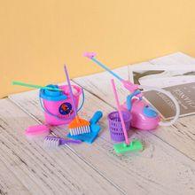 9 шт. игровой домик, игрушки, реалистичные игрушки для уборки, кухонные аксессуары, метла, швабра, игрушка для обеденной кухни, домашние игрушки, куклы, мебель