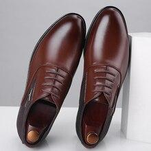 38 48 zapatos formales para hombre, negocio cómodo, zapatos formales elegantes para caballero, hombres #8812