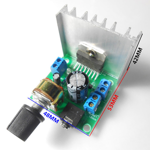 TiOODRE металлический усилитель мощности мотоцикла, цифровой стерео аудио усилитель, двухканальный усилитель, модуль AC/DC 12 В TDA7297 стерео аудио
