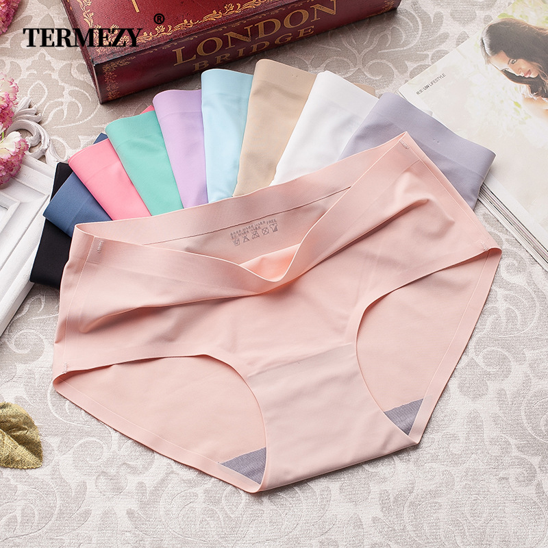 3Pcs/lot Seamless Panty Set Underwear Female Comfort Intimates Fashion Female Low-Rise Briefs 10 Colors Lingerie Drop Shipping
