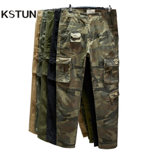 Cotton Cargo Pants Men Straight Cut Tactical Military Overalls Multi Pocket Camouflage Pants Khaki Pants Man Trousers Sweatpants