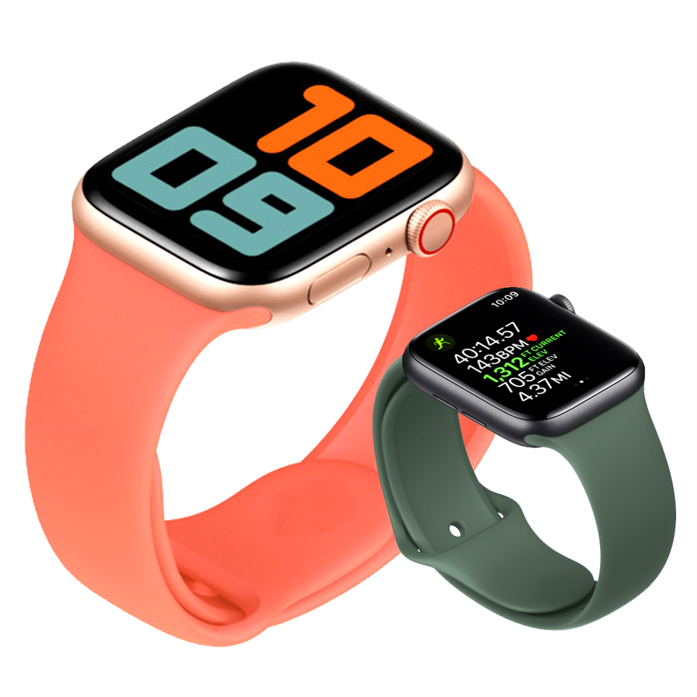 Sport Strap For Apple Watch Band 44 Mm 40mm Iwatch Band 42mm 38mm Silicone Watchband Wrist Bracelet Pulseira Apple Watch 5 3 4