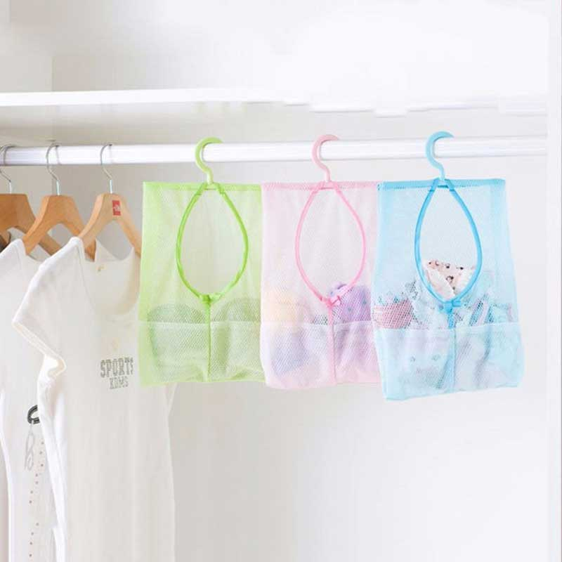 Hanging Mesh Bags Clothes Organizer for Bedroom underwear storage clothespin net