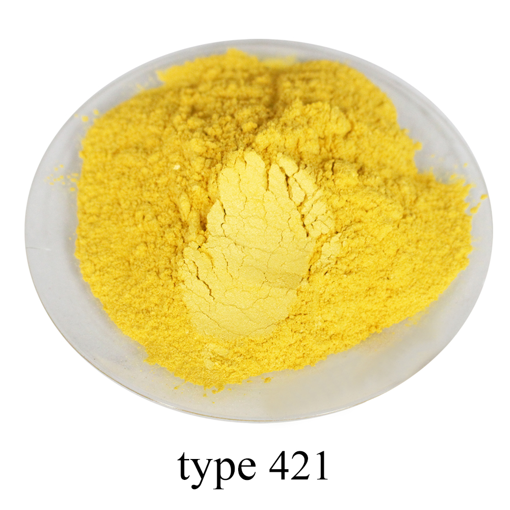 50g Pearl Powder Pigment Light Yellow Mineral Mica Powder DIY Dye Colorant Soap Painting Automotive Art Crafts Acrylic Paint