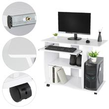 Modern Wood Desktop Computer Desk With Keyboard Tray PC Laptop Desk For Student Writing Table Home Office Work Furniture HWC