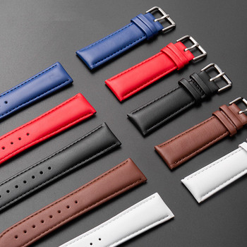High Quality Genuine Leather Watch Band Red 10mm12mm 14mm 16mm 18mm 20mm 22mm 24mm Men Watchbands For DW Watch Strap Women Brown dom crocodile leather watchband genuine leather strap 14mm 16mm 18mm 20mm 22mm 24mm black brown women men watch band