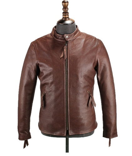 Free Shipping.New American Oil Wax Leather Coat,classic Motor Jacket.man Brown Engraved Genuine Leather Jacket.quality.sales