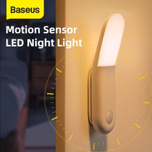 Baseus Led induzione luce notturna lampada a induzione del corpo umano sensore di movimento luce corridoio comodino magnetico emergenza per cucina domestica