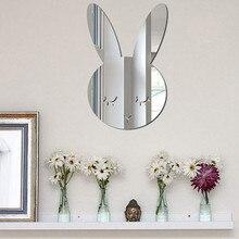 Горячая Детская комната настенное украшение Скандинавское акриловое зеркало мультфильм настенная камера реквизит обои милые Настенные Декоративные наклейки для дома