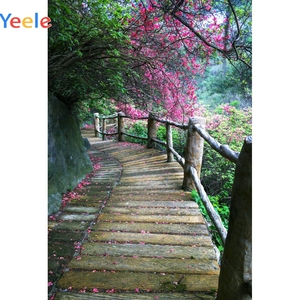 Image 2 - Yeele escaleras selva bosque árboles primavera paisaje fotografía fondos fotográficos personalizados para estudio fotográfico