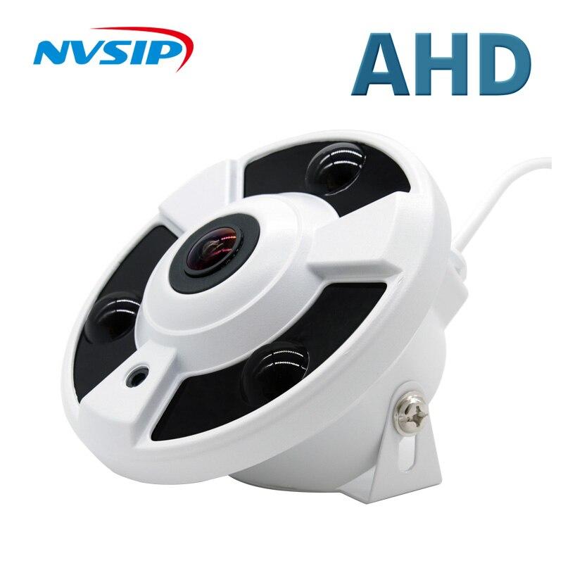 Ahd cctv câmera grande angular fisheye câmera panorâmica ahd câmera de vigilância infravermelha câmera de segurança dome 1080p