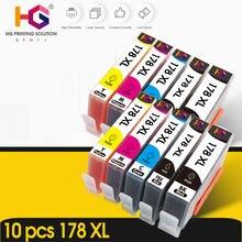 10pk совместимый чернильный картридж для hp 178 178xl photosmart