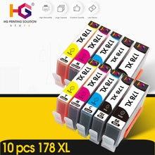 10PK Cartucho de Tinta compatível para HP 178 para HP178 178XL Impressora Photosmart 5510 5515 6510 7510 B109a B109n B110a