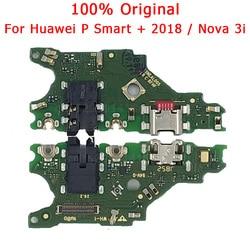 Oryginalna ładowarka do Huawei P Smart Plus Port ładowania USB na Nova 3i PCB złącze Dork Flex Cable mikrofon części zamienne
