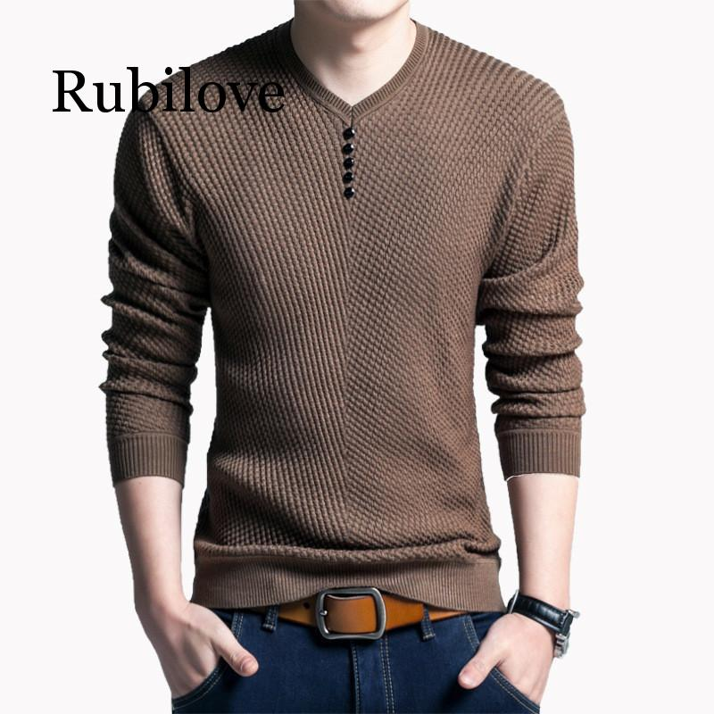 Rubilove New Brand Sweater Men 2019 Autumn Winter Male Standard Sweater Men's Pullover Men Fashion Sweater Top