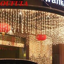 Уличная Свадебная гирлянда oufula Рождественское украшение фоновая