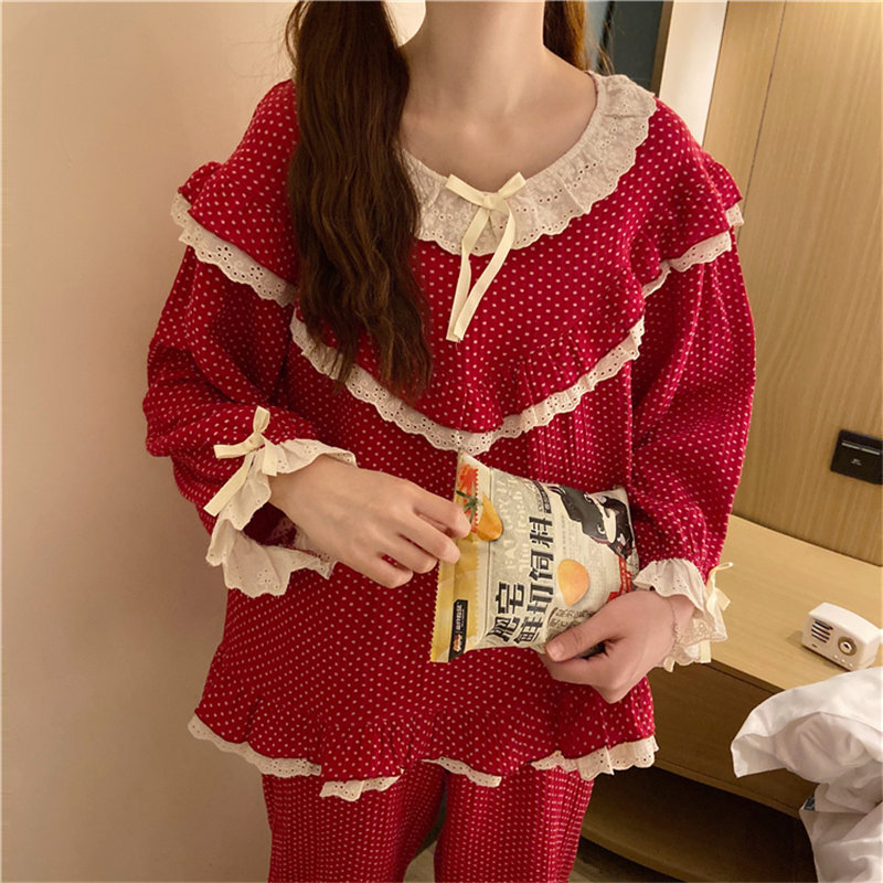Alien Kitty 2020 Women Sweet High Quality Full-Sleeved Cute Hot Gentle Chic Loose Pajamas Suits Home Clothes Fashion Sleepwear