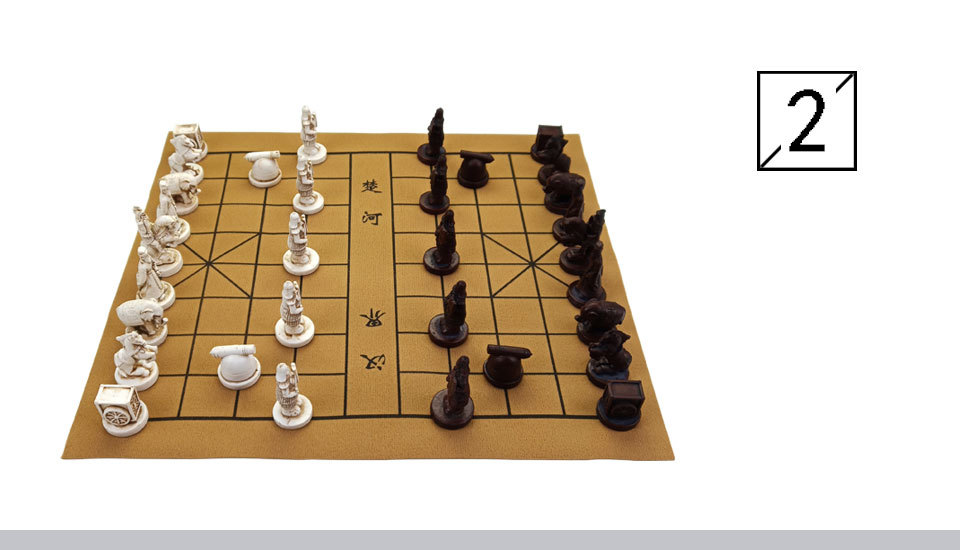 2 Yernea New Quality Traditional Chinese Chess Game Set Resin Chess Pieces Soft Chessboard Archaize Retro Chess Board Games (3)