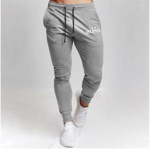2021 Новый Для Мужчинs Штаны Фитнес узкие джинсы эластичные штаны для бодибилдинга трек тренировки нижней Штаны Для мужчин и детей постарше мягкие тренировочные Штаны