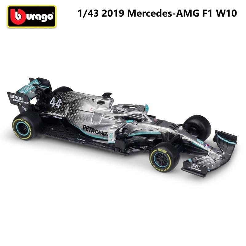 2019 Bburago 1:43 Scale Metal Diecast F1 Car Formulaa 1 Model Mercedes Benz Racing Car W07/W10 Alloy Toy Car Collection Kid Gift