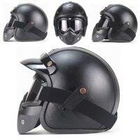 Professional Retro Motorcycle Helmet Goggle Mask Mask Open Face Helmet Cross Goggle Helmet