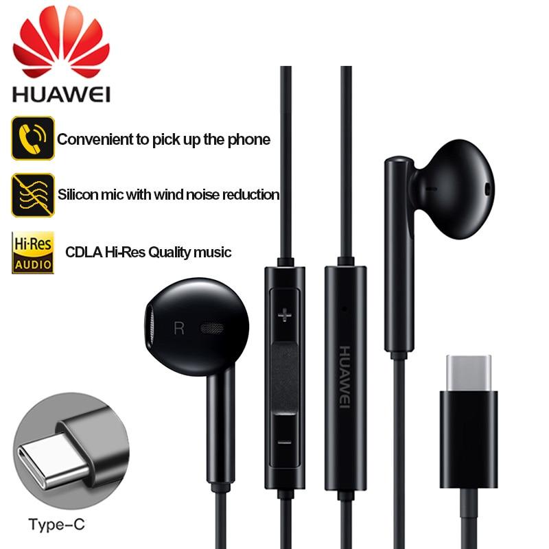 HUAWEI Headphones USB Type C CDLA Earphone Headset Original HUAWEI P20 P30 Mate 20 30 Pro Compatible For Xiaomi 8 9 Headphone