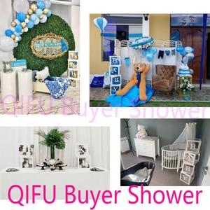 Image 4 - Qifu 赤ちゃん透明ボックス収納バルーン装飾 1st 誕生日パーティーの装飾ベビーシャワーの少年少女のギフト