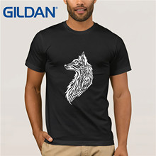 American Tribal  fox T-Shirts Adult 3D Drawing T Shirts High Quality 100% Organic Cotton Clothes Tee Student Cool Tshirt