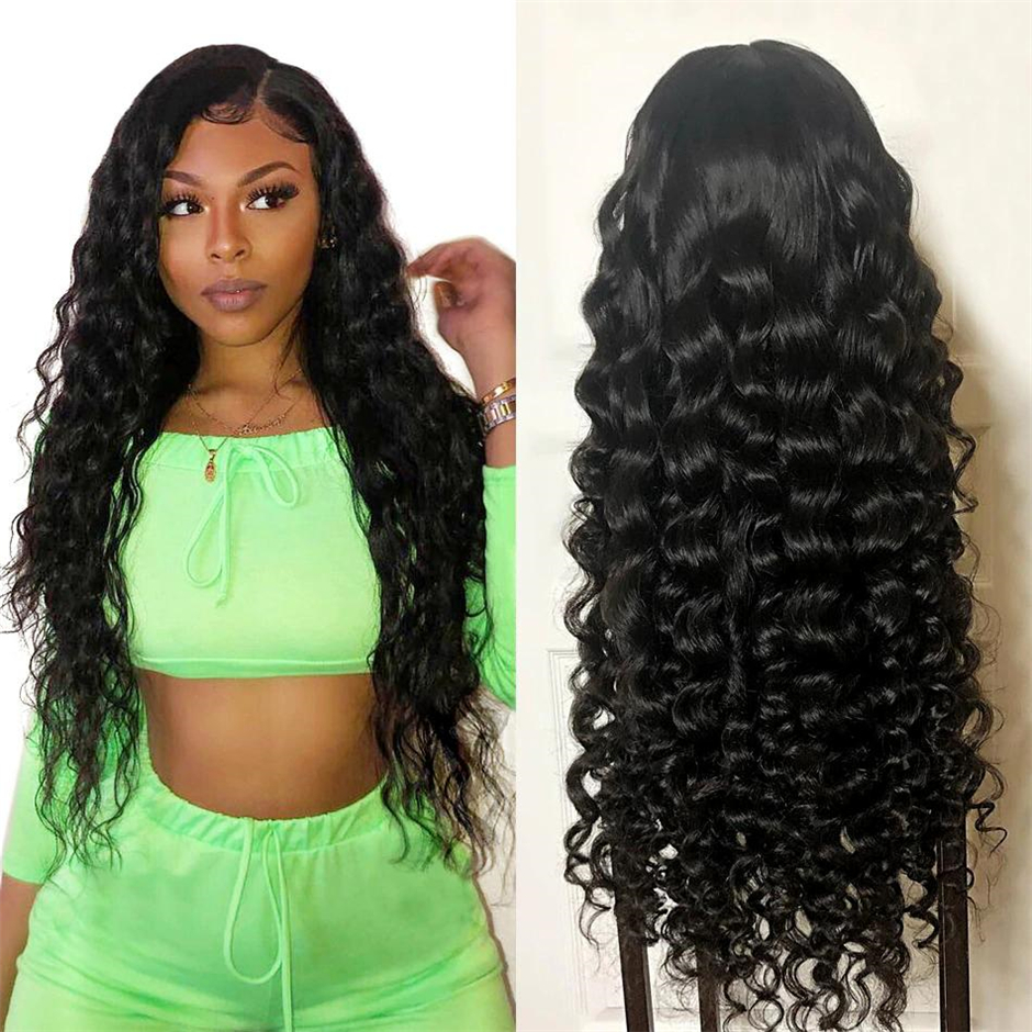Indian 4x4 Loose Wave Lace Closure Wig Human Hair Wigs For Black Women  150% Density Glueless Lace Closure Wig