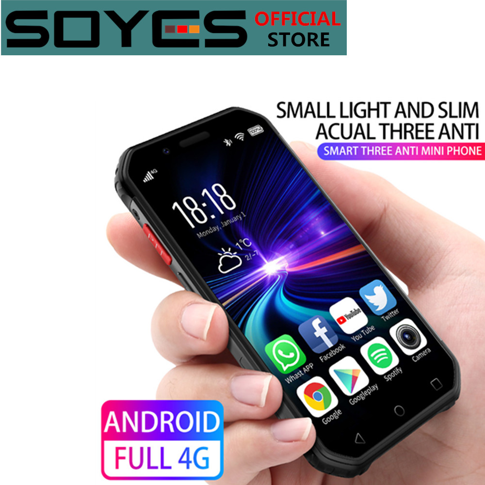 Su geçirmez Android Mini Smartphone soya S10 3G 32G MTK6737 Google cep telefonu yüz kimlik parmak izi PTT Walkie Talkie