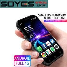 À prova dwaterproof água android mini smartphone soyes s10 3g 32g mtk6737 google celular celular rosto id impressão digital ptt walkie talkie