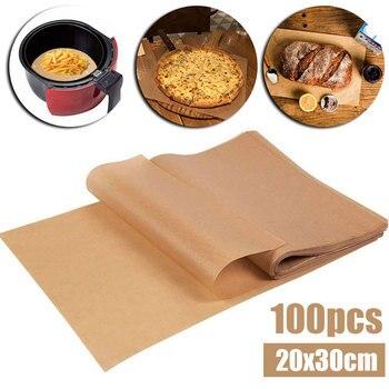 100pcs 20x30cm Parchment Paper Oil Absorption Rectangular Baking Paper Liner Suitable Kitchen Accessories BBQ Tools