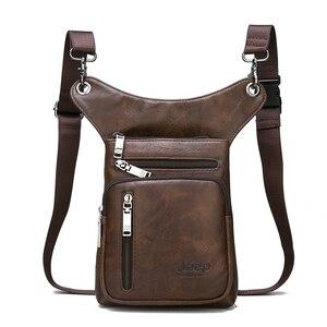 Image 5 - JEEP BULUO wielofunkcyjne torby męskie mała torba typu Crossbody torba na ramię Split skóra moda noga talii torba skrzynki nowy młody mężczyzna Mini