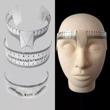 1 шт брови линейка для бровей инструмент измерения многоразовые