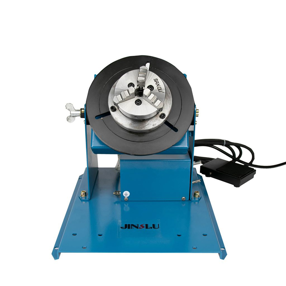 Tools : 220V BY-10 10KG welding turntable rotator for pipe or circle workpiece welding positioner with K01-65 mini chuck cartridge M14