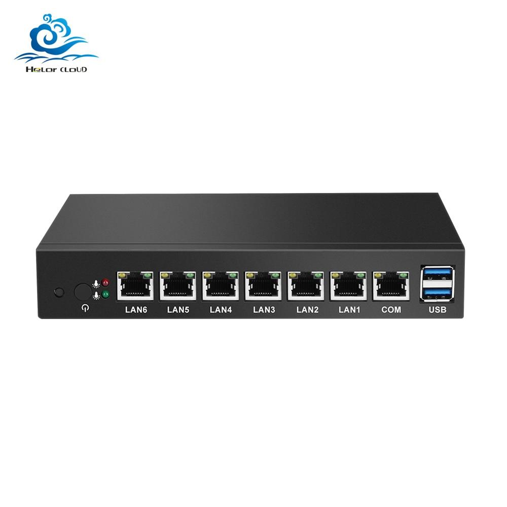 HLY Mini PC Celeron 1037U 6*Gigabit Ethernet LAN Mini Computer 1007U Windows Pfsense Firewall Industrial Thin Client Sobremesa
