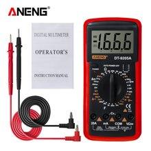 ANENG DT9205A Digitale Multimetro A Vero RMS AC/DC Transistor Tester di Tensione Elettrica NCV Profesional Analogico Auto Gamma Multimetro