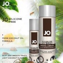 Sistema jo água-óleo mistura de coco fragrância fácil de limpar lubrificante sexual não gorduroso hidratante de longa duração casal óleo de massagem