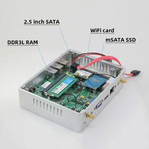 Image 5 - XCY Fanless מיני מחשב Intel Core i7 4610Y i5 4200Y i3 4010Y DDR3L mSATA SSD HDMI VGA 6 * USB wiFi Gigabit LAN Windows 10 לינוקס HTPC